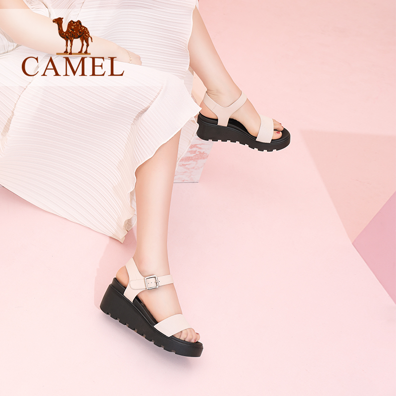 CAMEL Woman Sandals 2018 Summer Casual Simple Wedge Sandals Waterproof Platform shoes platform women Solid sandals сумка nano de la rosa nano de la rosa na003bwbyty3