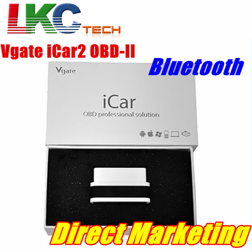 2018 A+ Quality Vgate iCar 2 Bluetooth Vgate iCar 2 Auto OBD2 ELM327 Bluetooth Car Diagnotic Scan Tool With 6 Colors