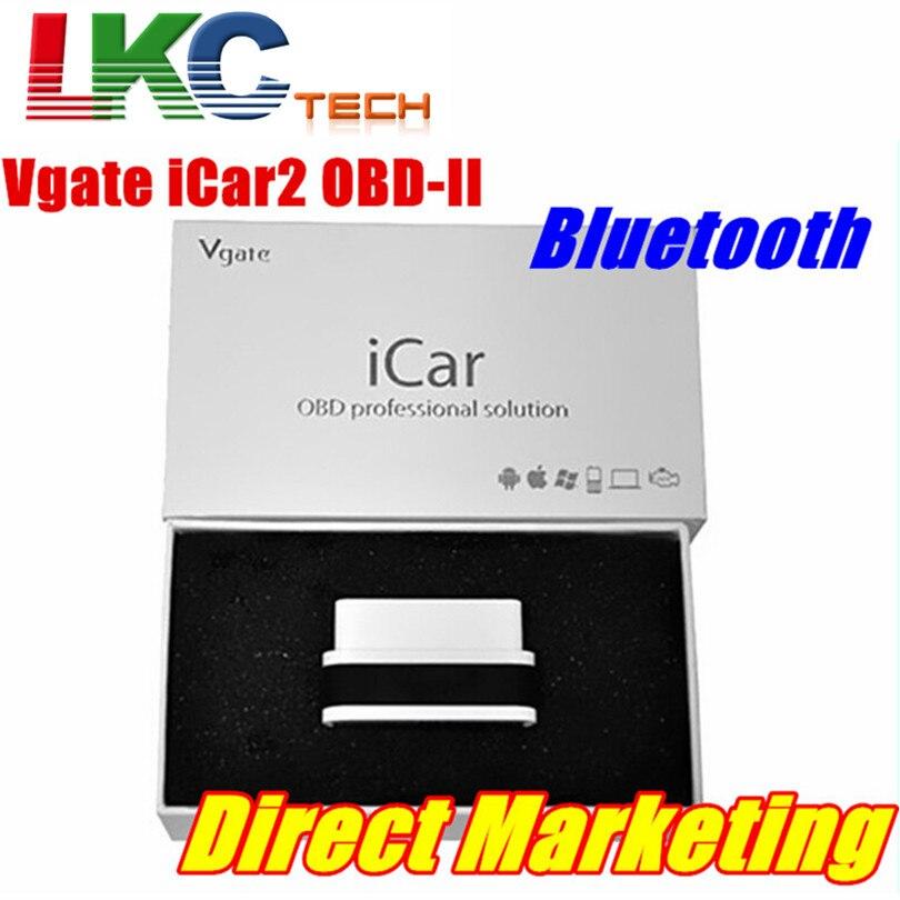 Prix pour Vente chaude Vgate iCar 2 Bluetooth Haute Qualité Vgate iCar 2 Auto OBD2 ELM327 Bluetooth Voiture Diagnotic Outil D'analyse Avec 6 Couleurs