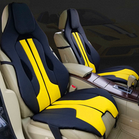 Car Front seat Cover Soft Interior accessories Leather cushion red white Racing yellow UniversalFor Ferrari Mercedes BMW Porsche