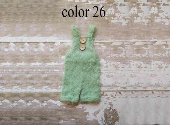 Новорожденный брюки комбинезоны готово к отправке, Летний стиль опора, Вязать мохер брюки - цвет 26 зеленый