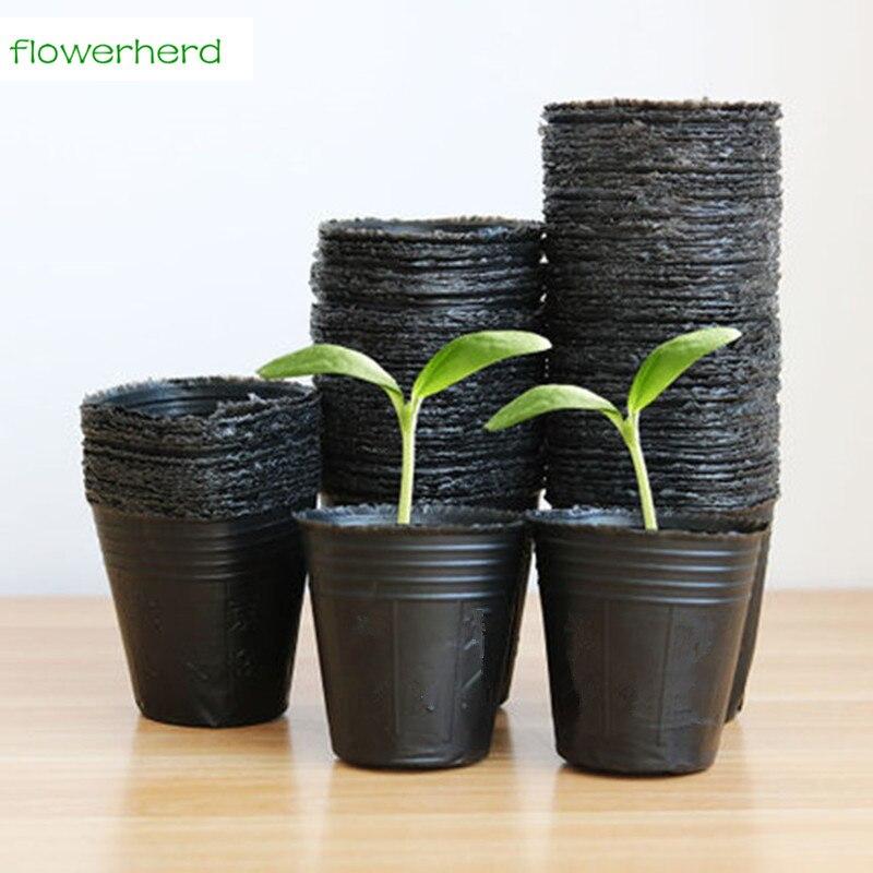 100pcs Nursery Pots Plant <font><b>Seeds</b></font> Grow Box Tray Insert Propagation Seeding Case Flower pot plug Nutrition <font><b>cup</b></font> Garden Supplies