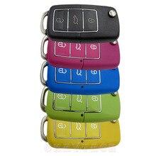 Для vw 3 кнопки Складывания цвет ключа Автомобиля Флип Удаленного замена Сигнализации Switchblade Ключ VOLKSWAGEN Passat tiguan С VW логотип