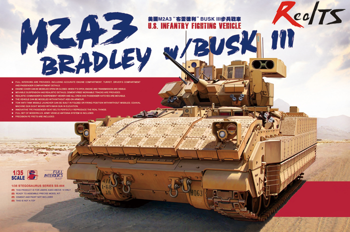 Meng Model SS-004 1/35 U.S. Infantry Fighting Vehicle M2A3 Bradley W/BUSK III Plastic Model Kit