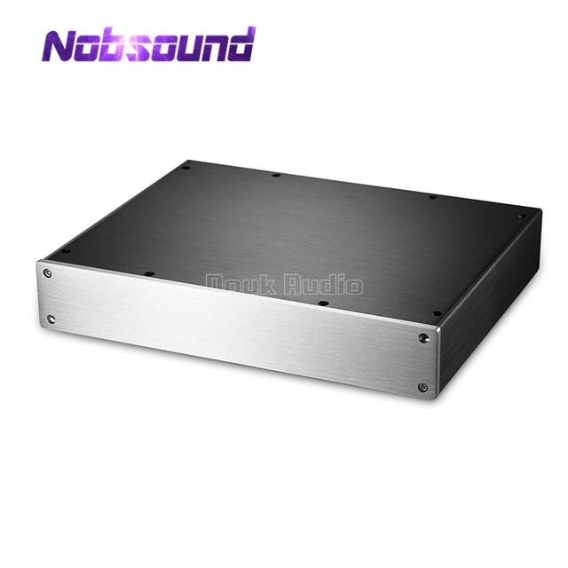 مضخم الطاقة Nobsound/Preamp/سماعة أذن Amp/DAC هيكل الألومنيوم الضميمة لتقوم بها بنفسك علبة صندوق