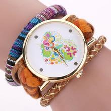 Women's Watch Color Heart-Shaped Fashion Watch Women Weaving Miracle Wrap Fashion & Casual wristwatches AT3