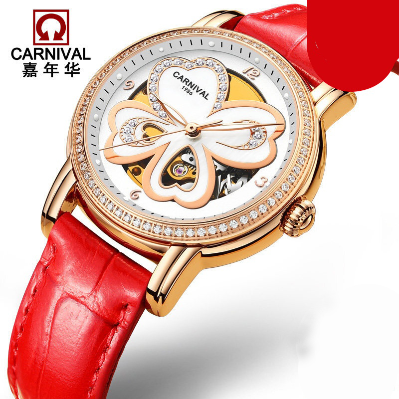 Switzerland Carnival Luxury Brand Watches Women Automatic Mechanical Wristwatches Sapphire Waterproof relogio feminino C8032-4Switzerland Carnival Luxury Brand Watches Women Automatic Mechanical Wristwatches Sapphire Waterproof relogio feminino C8032-4
