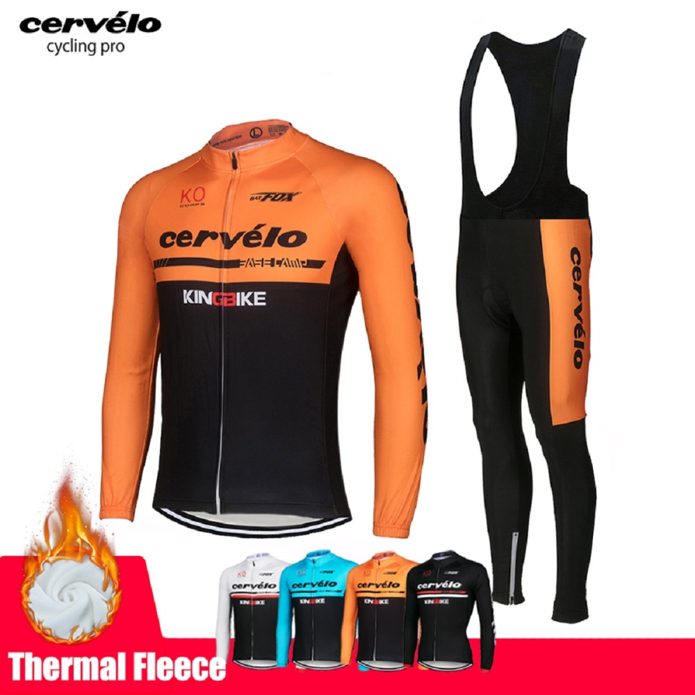 apariencia elegante mejor coleccion comprar lo mejor 2019 Winter Cycling Clothing Mountain Bicycle Wear Maillot Ropa Ciclismo  Invierno Thermal Fleece MTB Bike Cycling Jersey Set