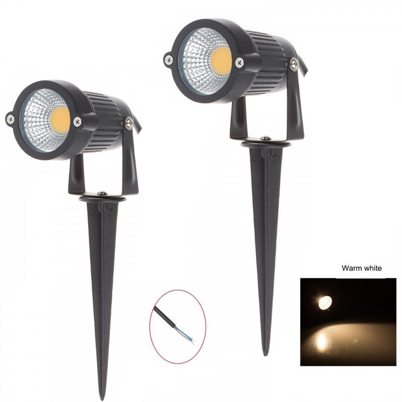 5W Waterproof Lights COB LED Lawn Lamp 110V 220V 12V Landscape Spot Light IP65 Outdoor Lighting Lamps Spike Light For Garden dc12v 24v led lawn lamps landscape light 9w 110v 220v waterproof outdoor garden light warm white spike led path lights