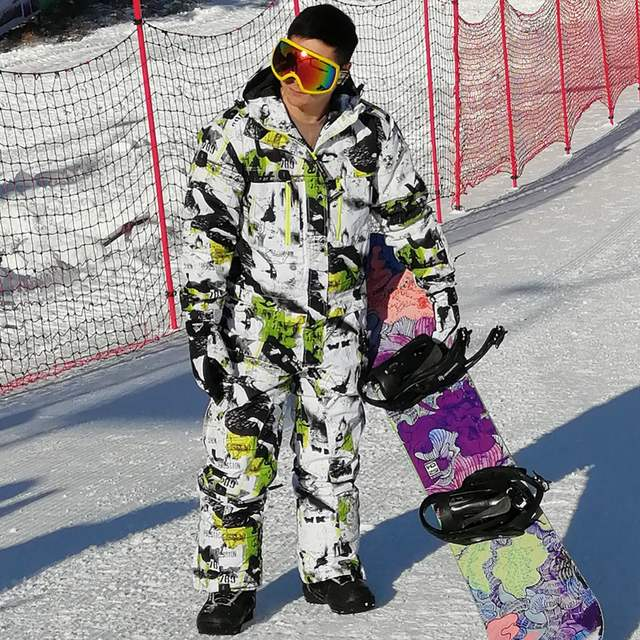 91381c19a81 SAENSHING snowboard jacket one piece ski suit men winter waterproof thick warm  ski jumpsuit Sport Snowboard
