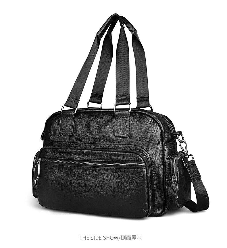 Neweekend 2018 new Men Briefcase Laptop Male Genuine Leather Bag Cowhide  Handbags Multifunction Men's Travel Shoulder tote Bag multifunctional genuine leather cowhide dark coffee men briefcase tote back pack business bag fit 15 laptop pr577026q 1
