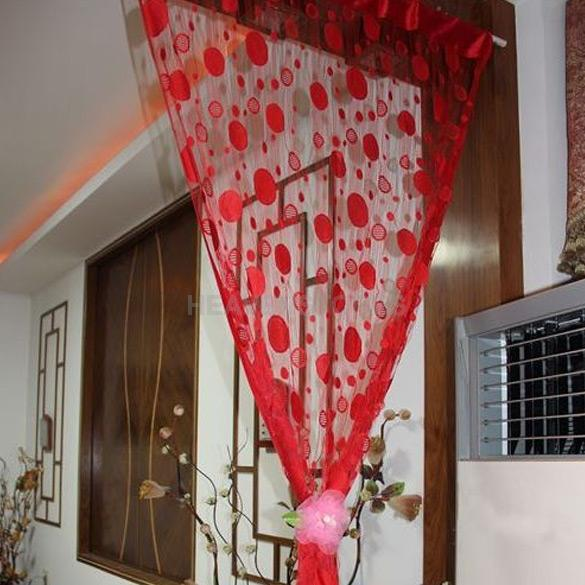 Popular Red Curtains with Circles-Buy Cheap Red Curtains with ...