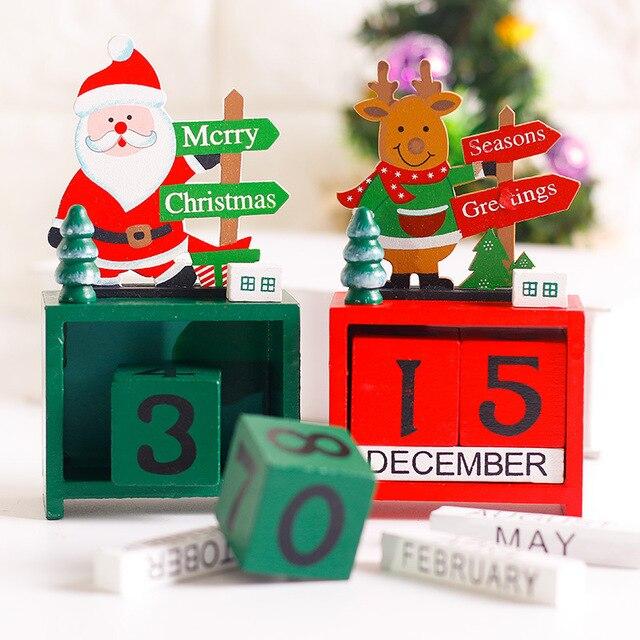 Weihnachten Datum.Us 7 62 25 Off Weihnachtsgeschenke Kreative Holz Adventskalender Dekoration Mini Holzkiste Weihnachten Datum Deer Weihnachtsmann Dekorationen 14x7 3