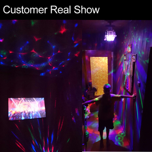 Image 4 - 6W 3W E27 RGB Lamp LED Bulb Light 220V 110V Stage Bulb Lampada Disco DJ Party Dance Holiday Christmas Lighting Auto Rotating
