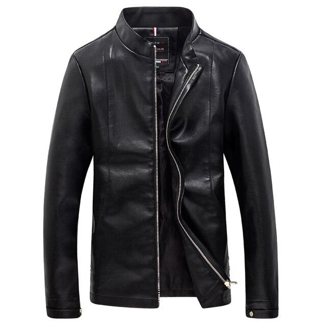 Мужская Кожаная Куртка Высокого Качества Куртка Мотоцикла Мужчины Повседневная Пальто Мужчины Slim Fit Досуг Куртки И Пальто Плюс Размер М-5XL