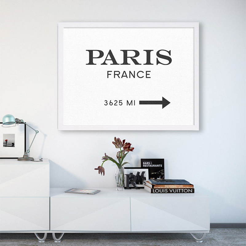 <font><b>Paris</b></font> France Wall Art Prada Marfa Like Gossip Fashion Modern Poster Canvas Art Painting Wall Pictures for Living Room, No Frame image