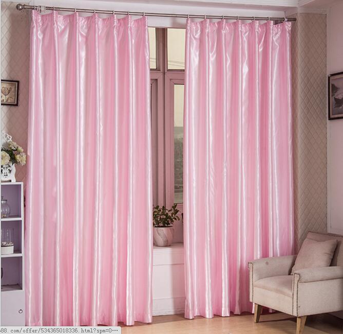 Custom Made Many Colors Immitation Silk Blackout Curtain Window ...