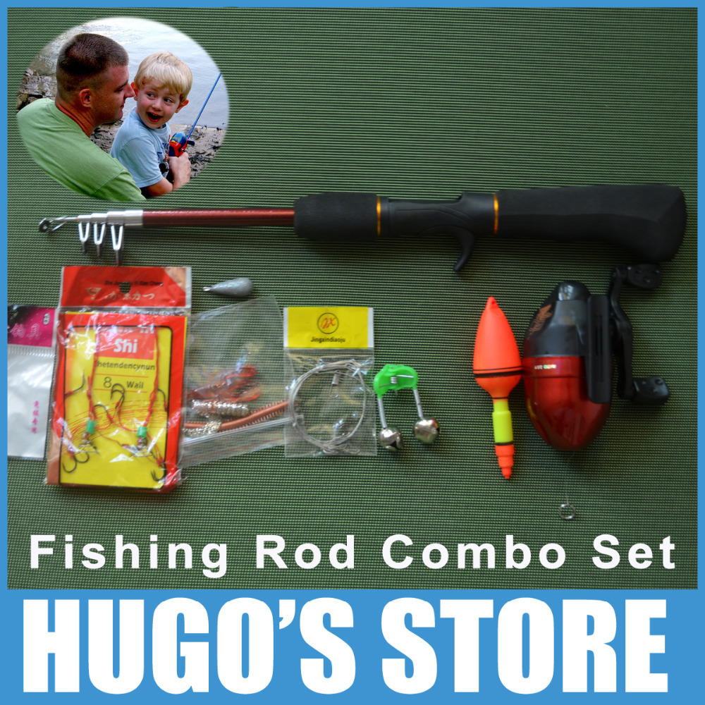 Combo fishing rod pole with fishing reel line hook for Best fishing rod for kids