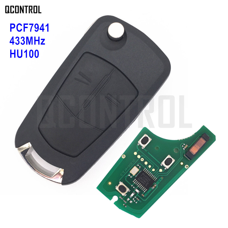 QCONTROL Car Remote Key Suit For Opel/Vauxhall Astra H 2004 - 2009, Zafira B 2005 - 2013