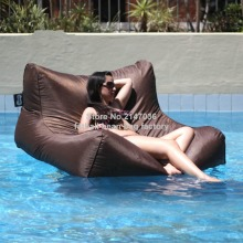 Brown Great enjoyment summer wholesale waterproof pool bean bag for floating furniture sofa seat, swimming beanbag chair