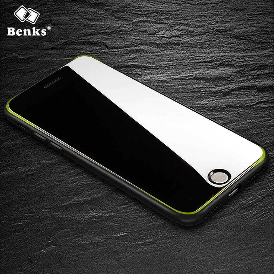 Benks 3D Tempered Glass For <font><b>iPhone</b></font> 8 7 Screen Protector Full Cover Protection Film For <font><b>iPhone</b></font> 8 7 Plus Glass For iPhone8 Black