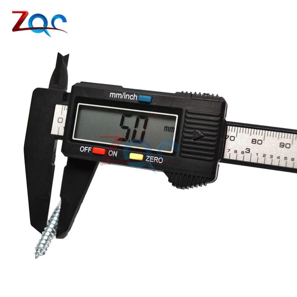 الإلكترونية الرقمية الورنية الفرجار 150 مللي متر الفولاذ المقاوم للصدأ قاعدة مقياس الميكرومتر 6 بوصة LCD مسطرة قياس أداة 0-150 مللي متر 6''
