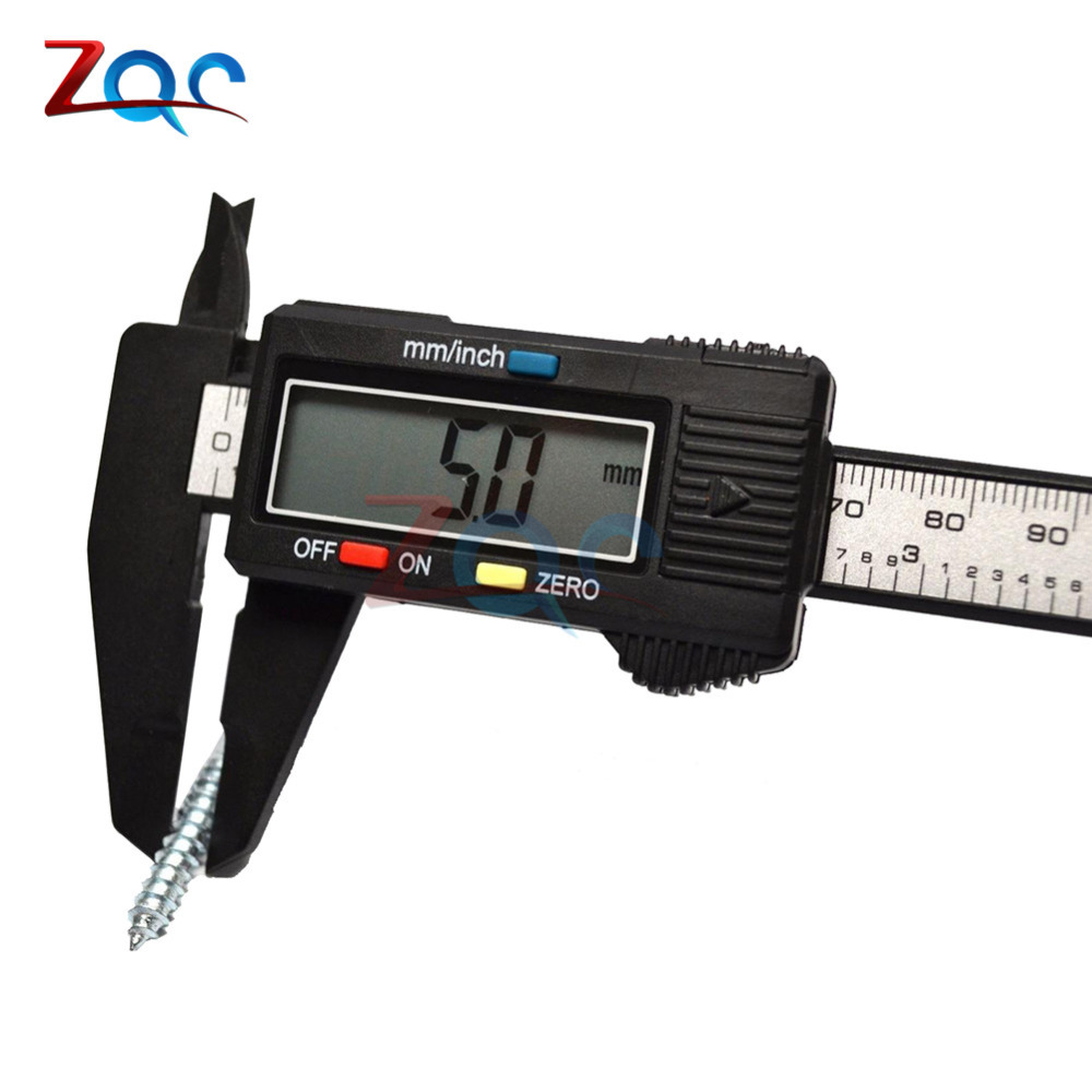 Electronic Digital Vernier Caliper 150mm Stainless Steel Rule Gauge Micrometer 6 Inch LCD Measuring Ruler Tool 0-150mm 6''