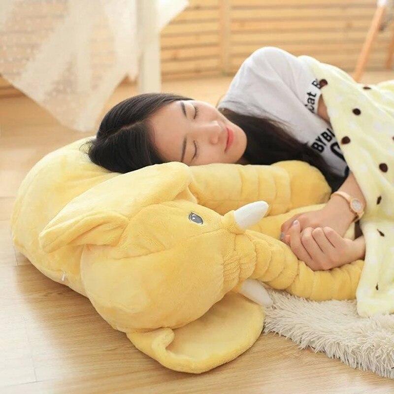 Retail Pillow Blanket Set Elephant Soft Plush Pillow Blankets