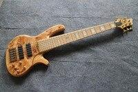 Ясень тело Капа Высочайшее качество 6 строка золотистой фурнитурой бас-гитара Guitarra все Цвет доступны