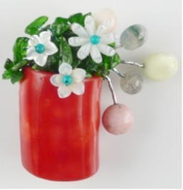 Coral Brooch Pins With Shell Flower Free Shipping Fashion Jewelry Women Jewelry цены онлайн