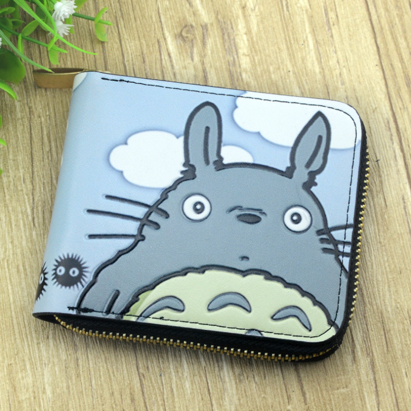 kid gift wallet zipper purse of totoro Conan Naruto  luffy Gin Tama Sword Art Online children cion wallets with card cover ceative new arrival anime gintama fairy tail naruto one piece conan totoro etc khaki pu long wallet purse