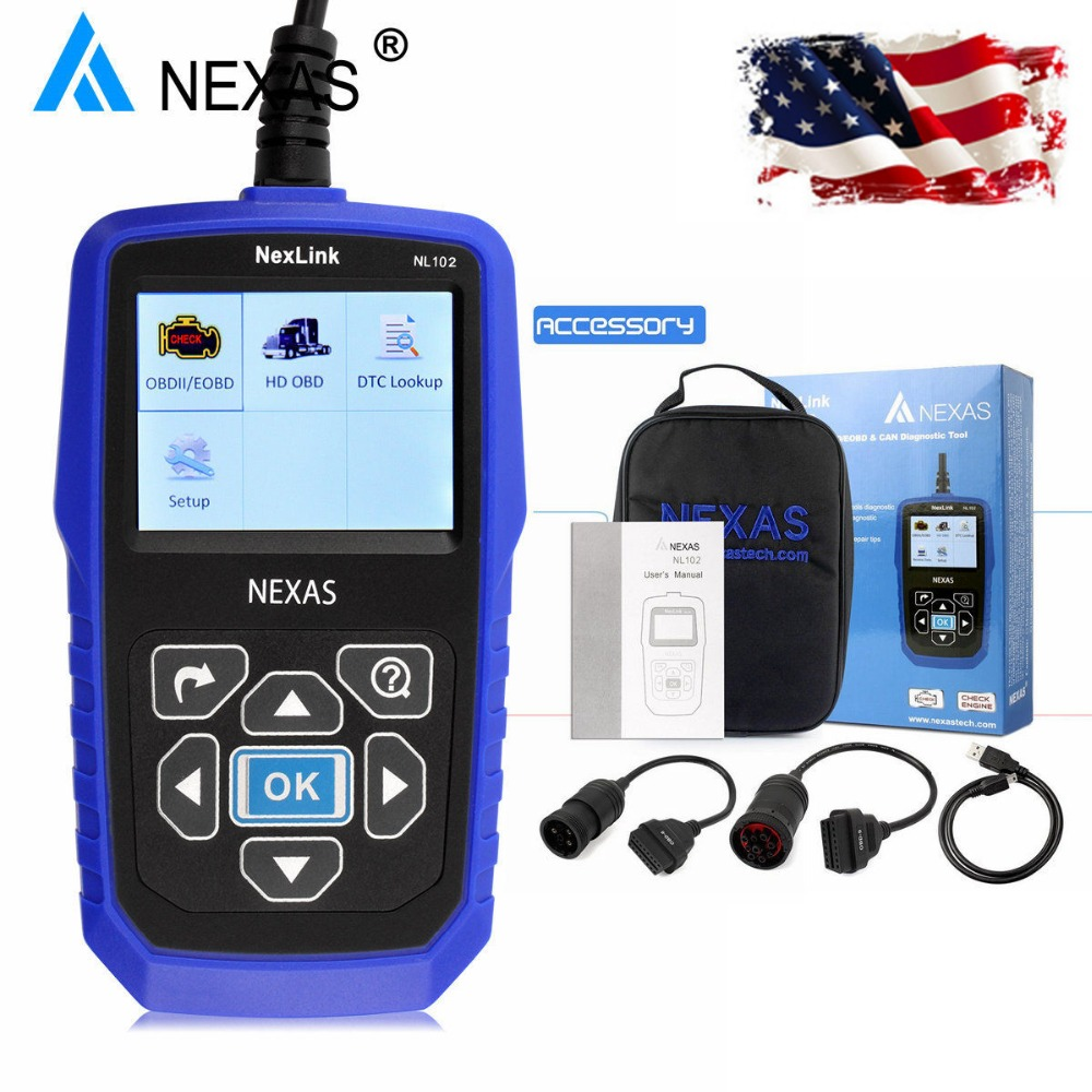 Heavy Duty Truck Diagnostic Scanner NEXAS NL102 OBD OBD2 for Volvo Scania Renault Truck Diesel Engine ABS Brake Diagnostic Tool гарнитура audio technica ath m50x white