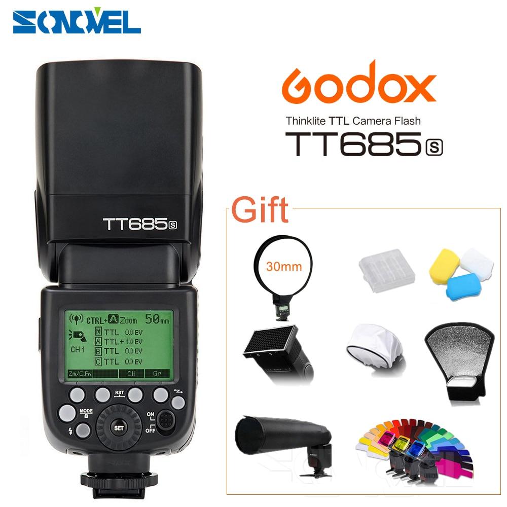 Godox tt685s GN60 TTL Вспышка Speedlite 230 полный Мощность Авто/ручной масштабирование для Sony Зеркальные фотокамеры a77ii a7rii A7R a6500 a6300