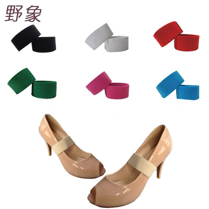 2 سنتيمتر عرض أربطة الحذاء الديكور الأزياء مريحة الأحذية التبعي للنساء أحذية عالية الكعب الدانتيل بلون الأحذية المرنة الفرقة