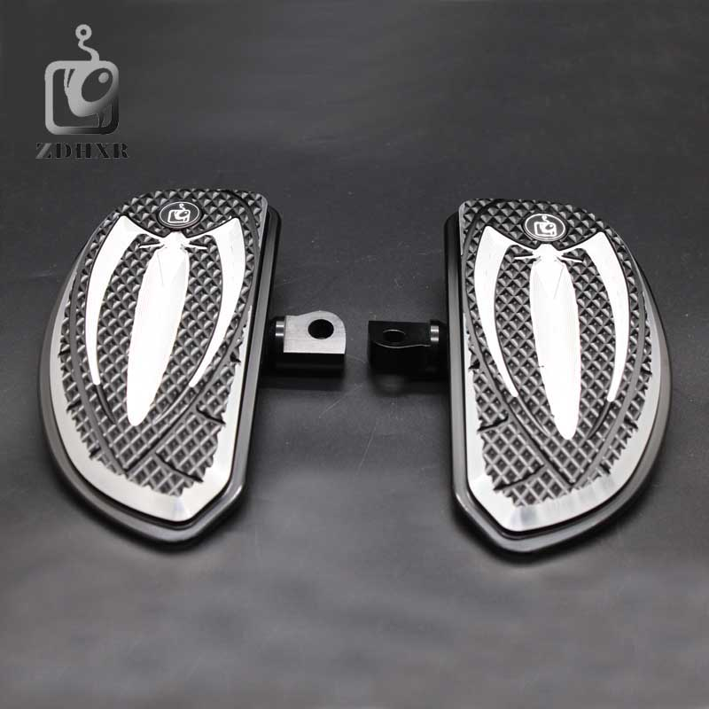 Motorcycle Accessories Chrome and Black Color Driver Floorboards Pedal For Harley Sportster 883 1200 Touring Dyna