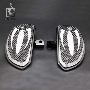 Image 1 - Motorcycle Accessories Chrome and Black Color Driver Floorboards Pedal For Harley Sportster 883 1200 Touring Dyna & Softail