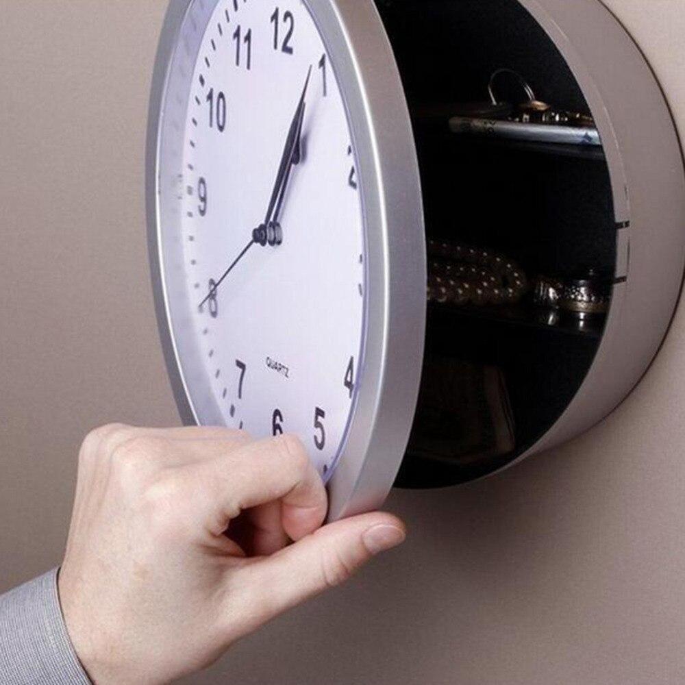 2017 Creative Novelty Money Jewellery Storage Container Mechanical Storage Box Clock ABS Wall Clock Cash Safe Box