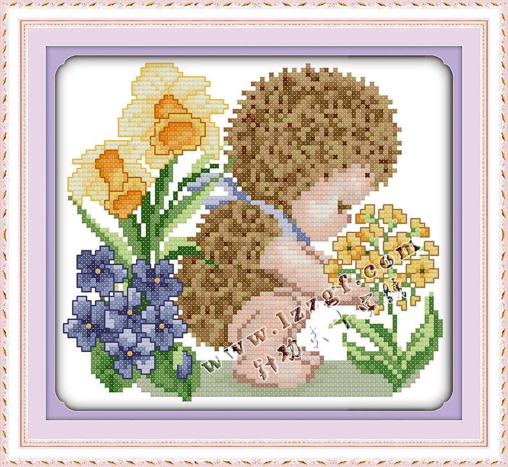 The Little Hedgehog Cross Stitch Counted Cross Stitch Printed Cross Stitch Word Decor Embroidery Animal Cross Stitch