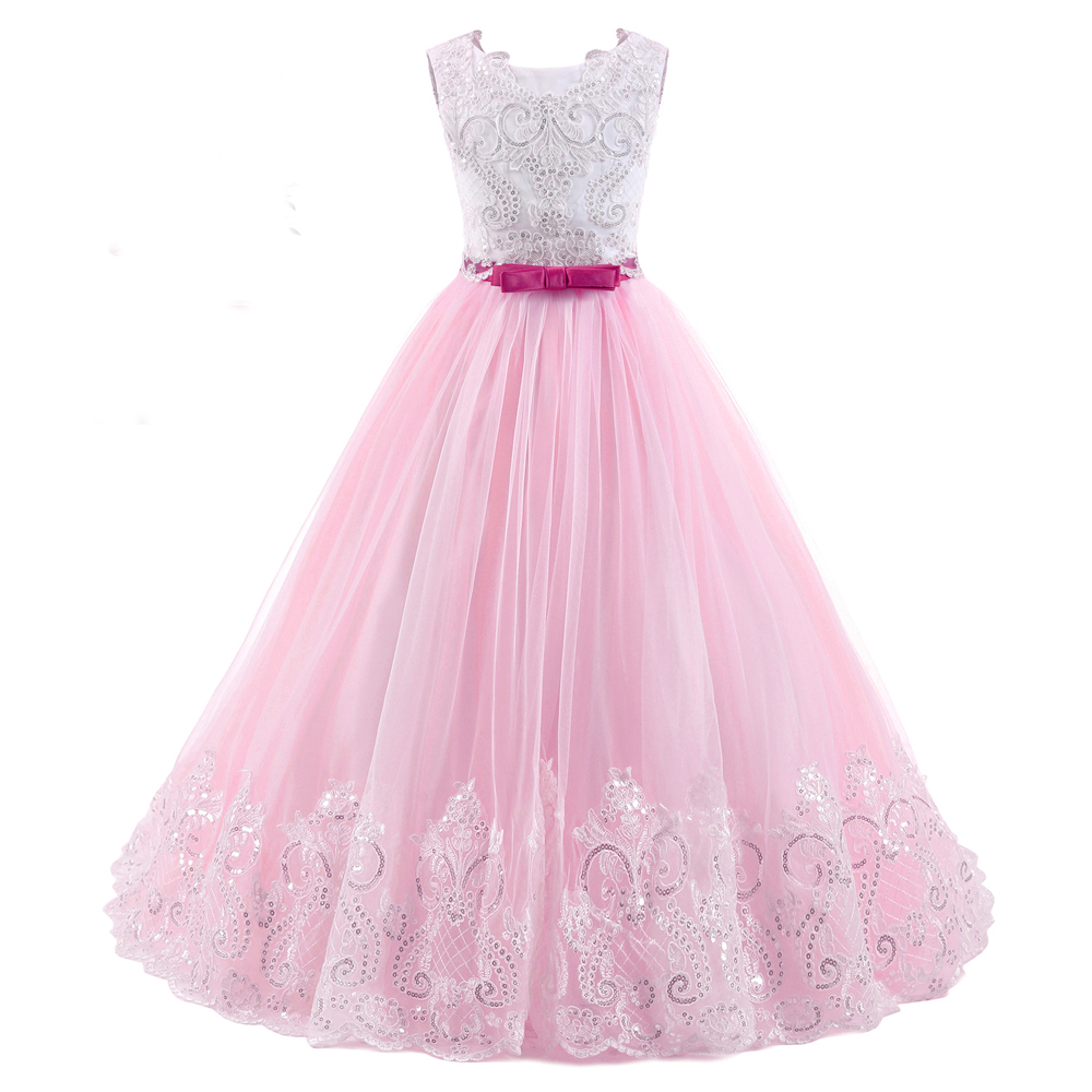 цены Princess Lace First Communion Dresses for Girls 10 12 Puffy Ball Gown Pageant DFress for Girls Tulle Mother Daughter Dresses