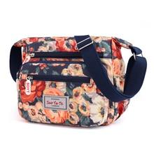 Hot Sale bolsos mujer 2019 New Small Women Bags Painted Flower Messenger Rose Design Shoulder Bag Nylon Handbag