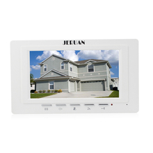 JERUAN FREE SHIPPING 7 inch video door phone  doorbell video door phone intercom system 722W indoor + Power Adapter