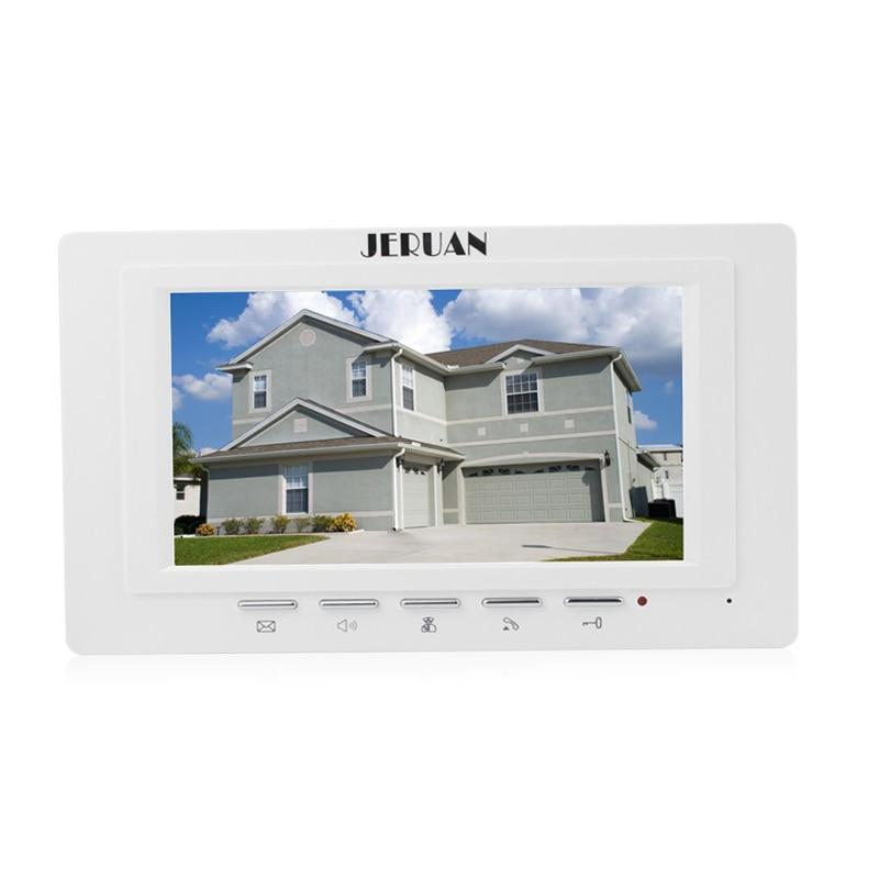 JERUAN FREE SHIPPING 7 inch video door phone  doorbell video door phone intercom system 722W indoor + Power Adapter