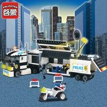 цена на Enlighten Police explosion-proof track vehicle Building Blocks set Bricks Construction Toys For Children Gift 128 Legoeddis