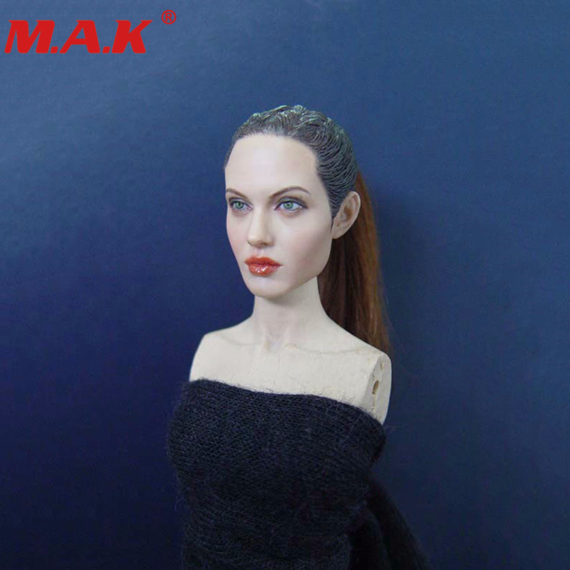woman star Angelina Jolie 1/6 female girl head sculpts KM36 model toys for 12