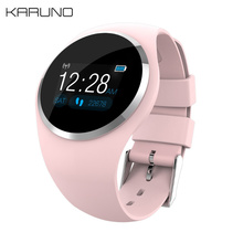KARUNO Q1 Цвет Экран браслет для смарт-часов крови Давление монитор сердечного ритма Фитнес трекер Для мужчин женские умные часы браслет