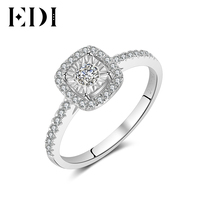 EDI 14K Diamonds 0.34cttw Women Classic White Gold Ring Statement Wedding/Engagement Rings Bands Fine Jewelry Christmas Gift