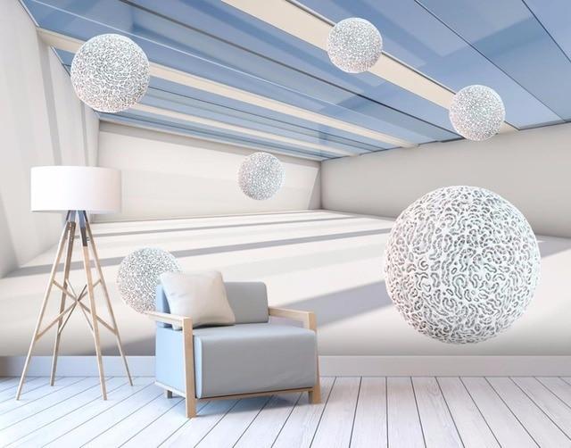 Us 1428 49 Offabstrakcyjne Tapety Stereoskopowe 3d Tapety Piłka Do łazienki Salon Fototapety ścienne Tle ściany W Abstrakcyjne Tapety