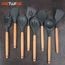 Shovel Utensil-Set Soup-Spoon Cooking-Tool Silicone Spatula Non-Stick Heat-Resistant