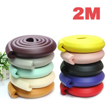 2M Table Edge Protection Strip Baby Safety Protector Table Edge Cushion Strip Plane Bumper Strips Baby Safety Accessory