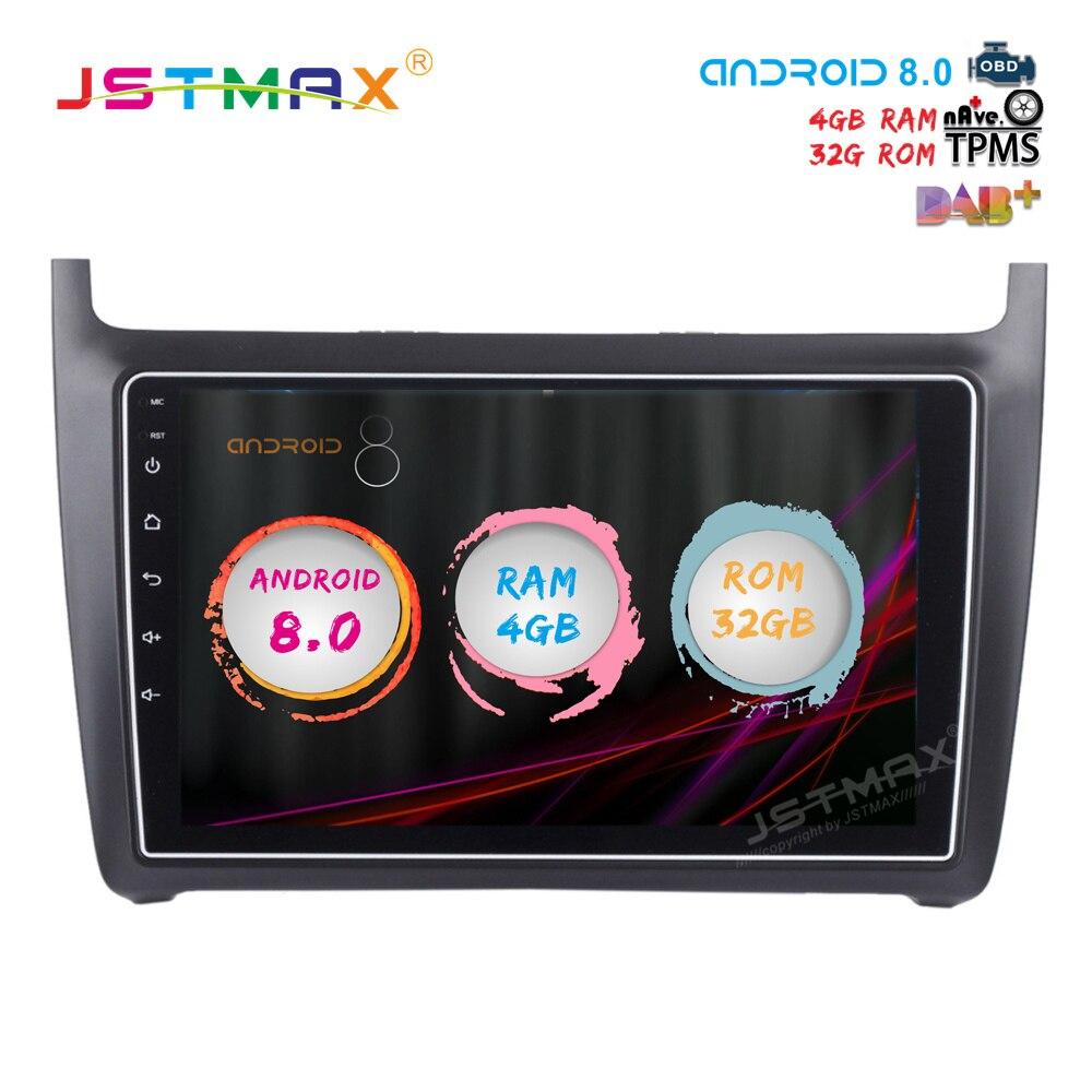 jstmax 10 2 android 8 0 car dvd radio player for vw new. Black Bedroom Furniture Sets. Home Design Ideas